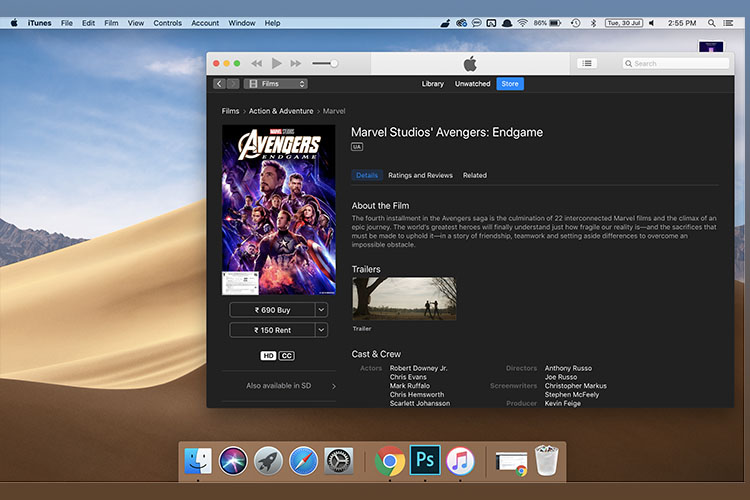 Avengers: Endgame Now Available on Google Play, YouTube