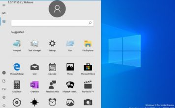 Windows 10 start menu - new