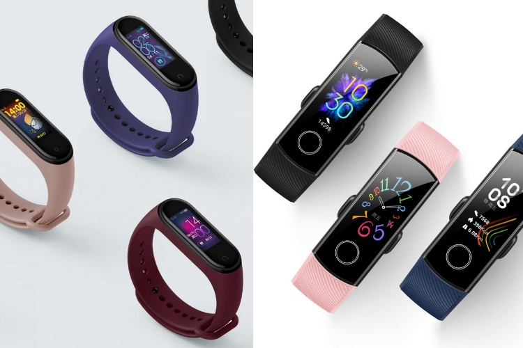 Honor Band 5 vs Mi Band 4 - design