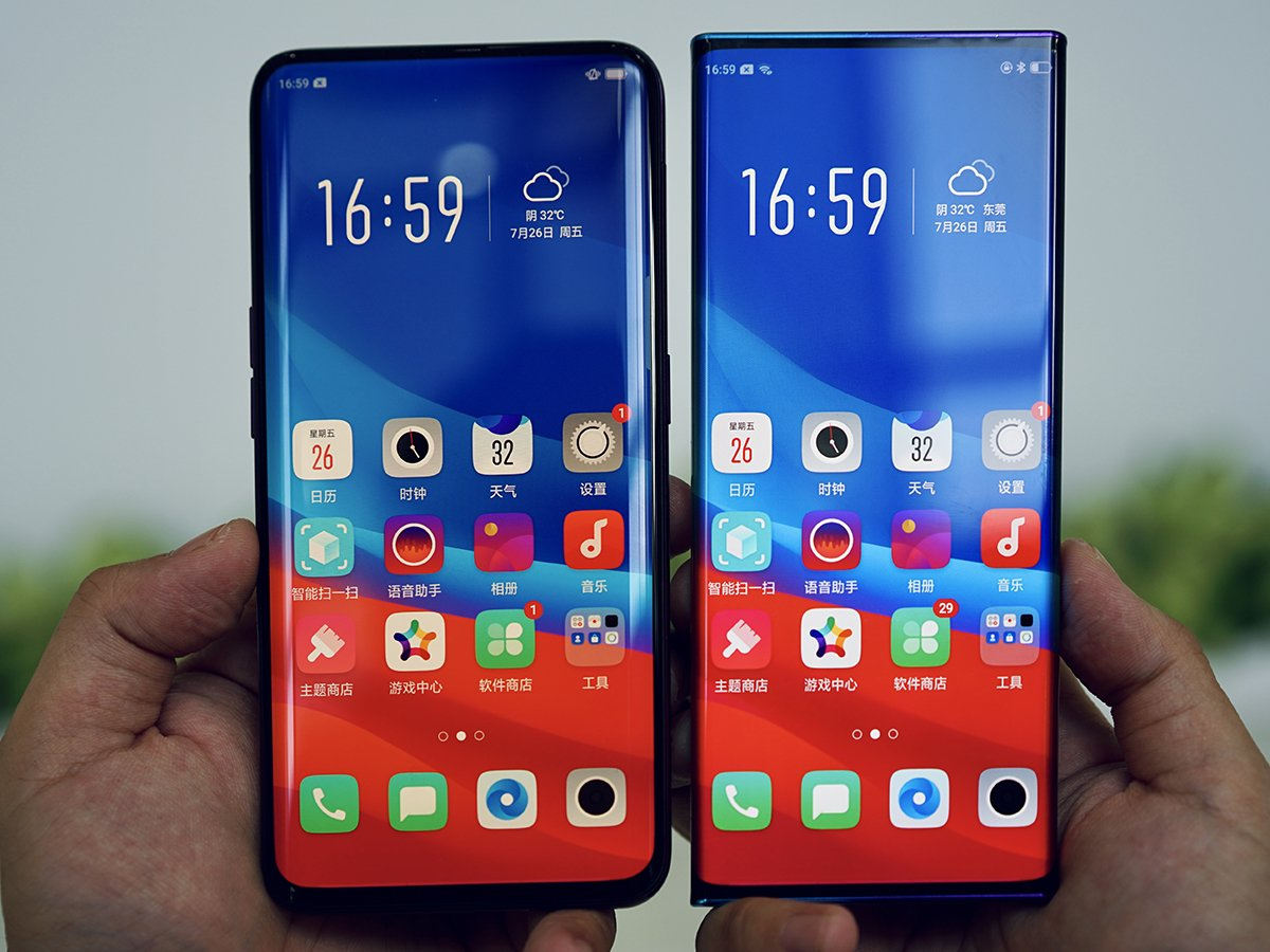 oppo find x vs waterfall screen