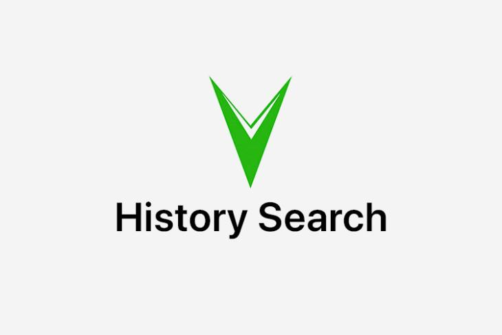 history search featured