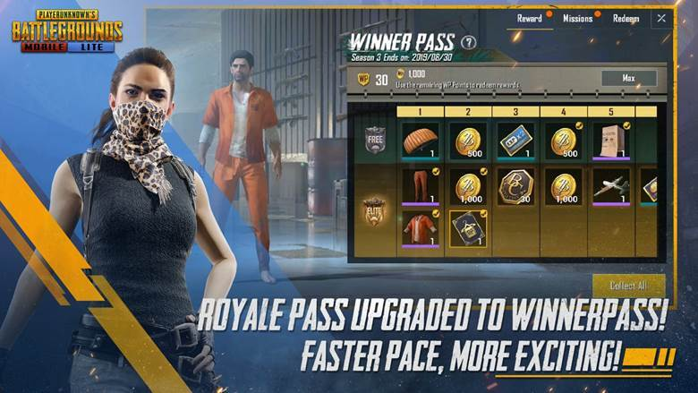 pubg mobile lite india launch - winner pass