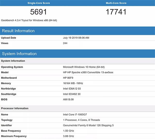Intel's 10th Gen Core i7 Mobile Beats the Desktop Ryzen 9 3900X in Single Core Scores