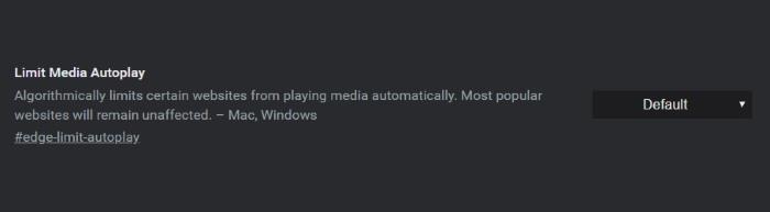 limit media autoplay edge canary
