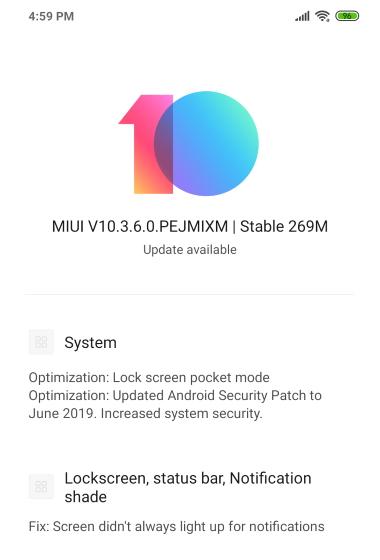 poco f1 - miui 10 update