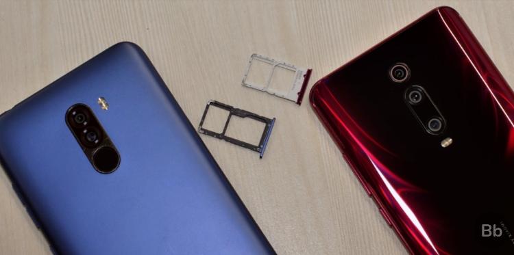 redmi k20 pro vs poco f1 - microSD slot