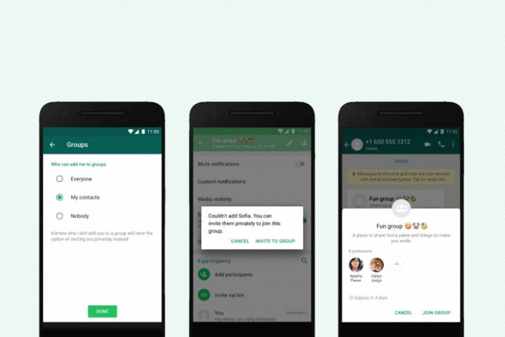 whatsapp group privacy settings launched