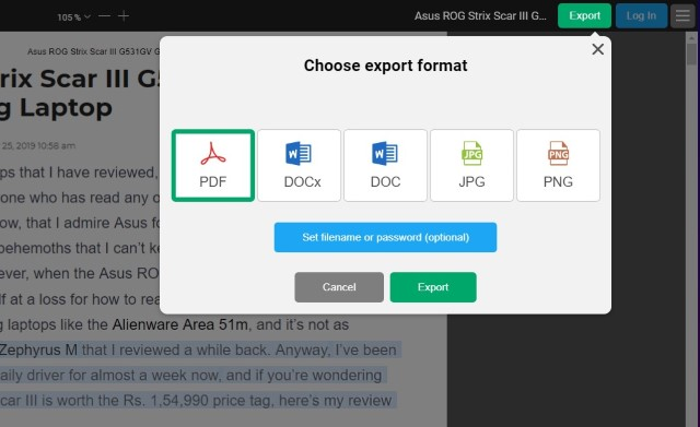 11. Export and Convert PDF FIles
