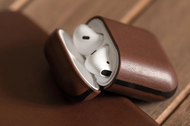 2. Nomad Leather Case for AirPods 2