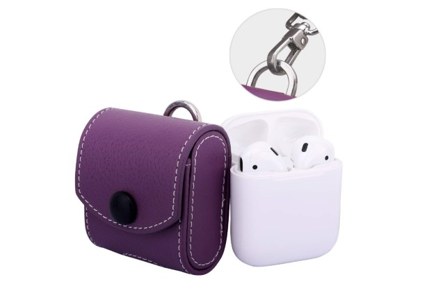 5. Moko Leather Case for AirPods 2