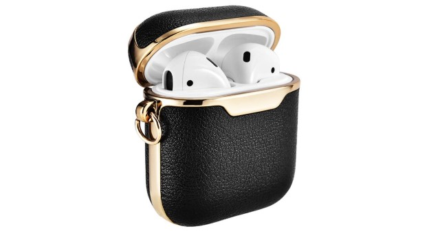 8. ICARERSPACE AirPods 2 Portable Leather Protective Cover Case