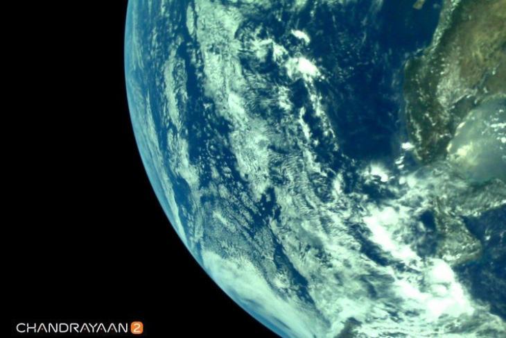 Chandrayaan-2 Earth Image website