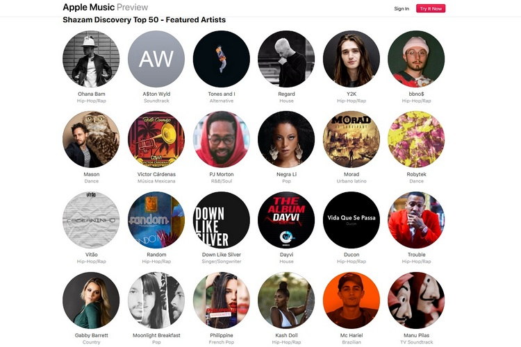 Apple Music Launches 'Shazam Discovery Top 50' Chart to