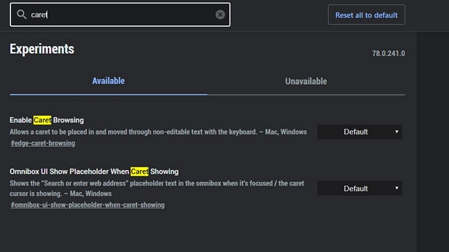 How to Enable Caret Browsing on Chromium-Based Edge