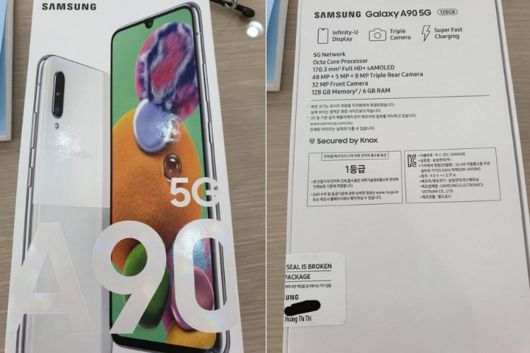 Galaxy A90 5G retail box leaked: specs, features and price