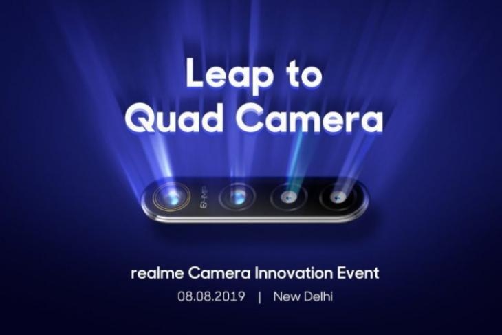 Realme 64MP quad camera phone