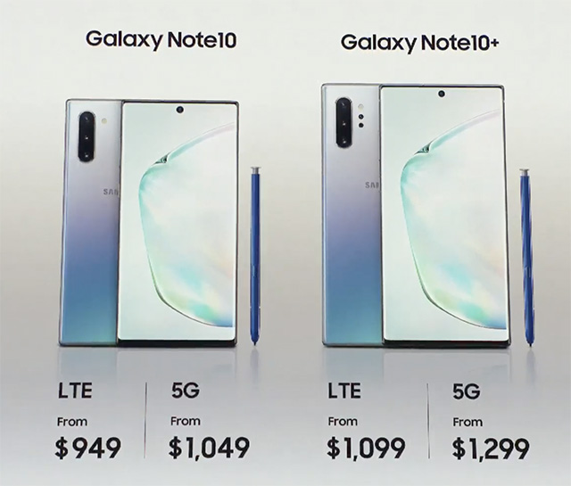 Galaxy Note 10, Note 10+ Launched