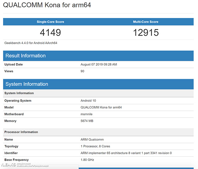 First Snapdragon 865 scores emerge on Geekbench