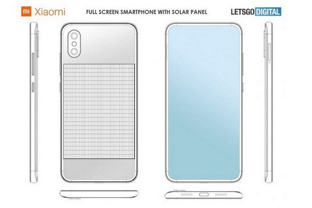 Xiaomi Patents Full-screen Smartphone With Integrated Solar Panel