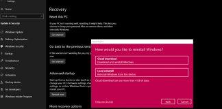 windows cloud reset, Cloud-Reset