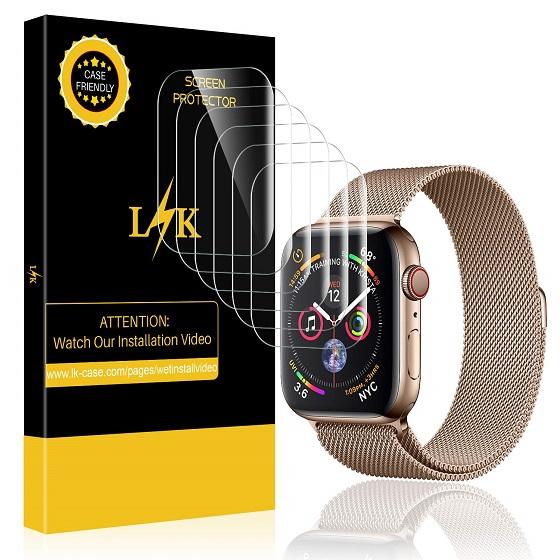 1. LK Screen Protector - Apple Watch Series 5 Screen Protectors