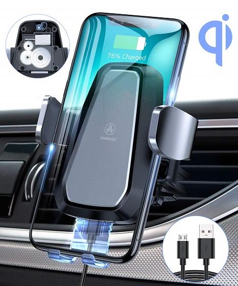 10. Vanmass Wireless Car Charger