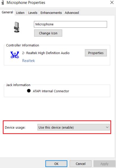 2. Configure Microphone Settings from Control Panel (3)