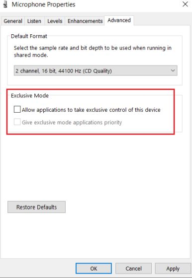 2. Configure Microphone Settings from Control Panel (6)