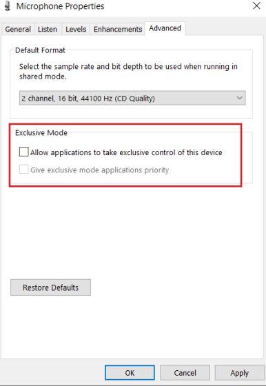 2. Konfigurieren Sie die Mikrofoneinstellungen über die Systemsteuerung (6).