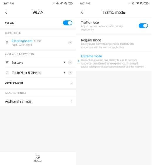 2. Control WiFi Settings