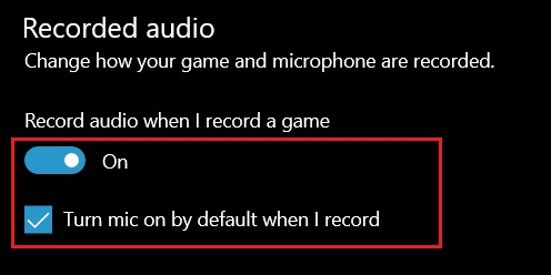 3. Adjust Game Bar Settings (2) Fix Microphone Issues on Windows 10
