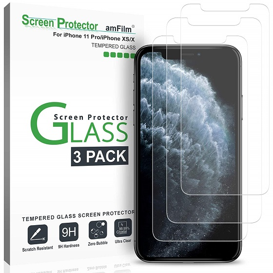 3. amFilm Glass Screen Protector