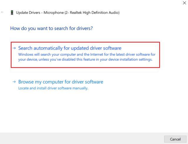 4. Aktualisieren Sie den Audiotreiber (3). Beheben Sie den Mikrofonfehler in Windows 10