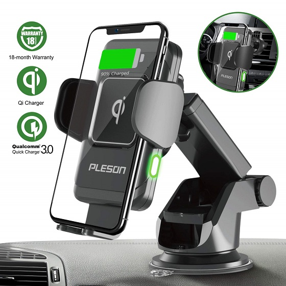 6. Pleson Wireless Car Charger