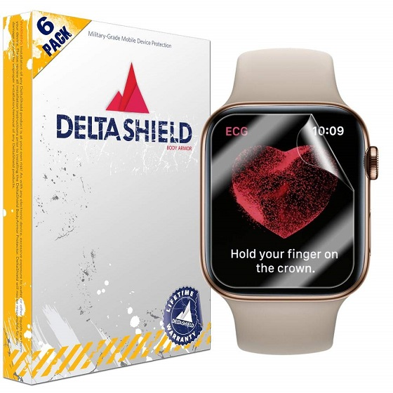 9. DeltaShield Screen Protector - Apple Watch Series 5 Screen Protectors