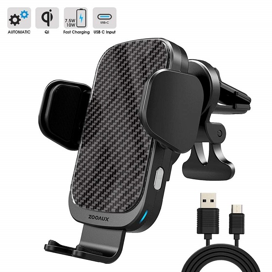 9. Zooaux Wireless Car Charger
