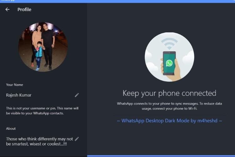 How to Get Dark Mode on WhatsApp Desktop | Beebom