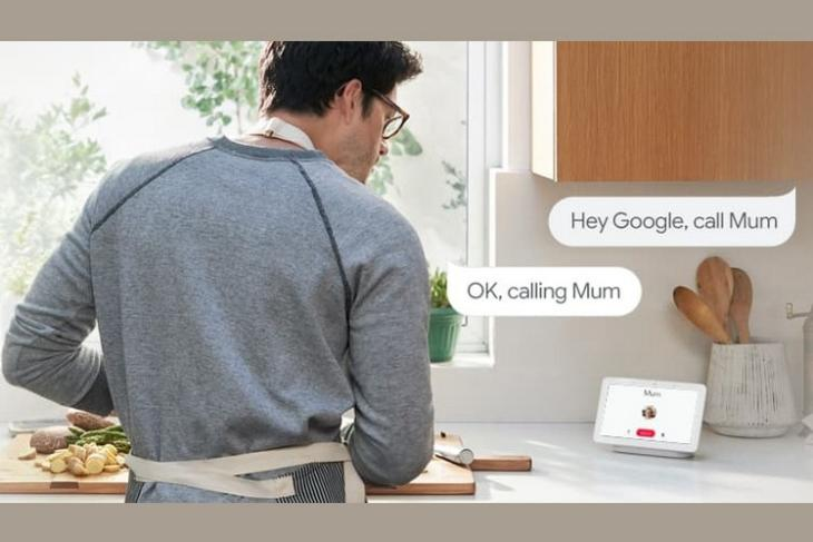 G Home voice activated calling website