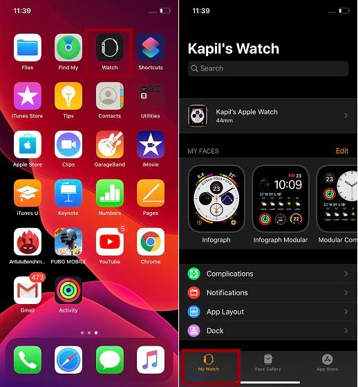 Launch Watch app