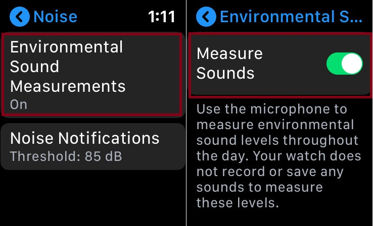 Measure Environmental sound