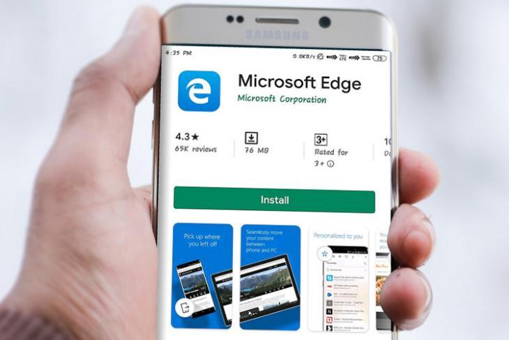 Microsoft Edge website