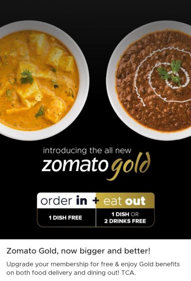 zomato gold delivery benefits