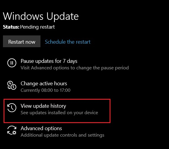 Uninstall KB4512941 Update 2