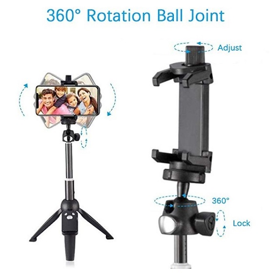 Wevon selfie tripod for iPhone 11, 11 Pro and 11 Pro Max