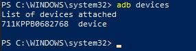 adb devices command - pixel - android 10