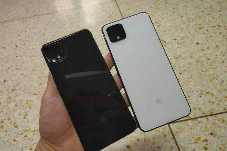 Pixel 4 XL leaked in black and white colors