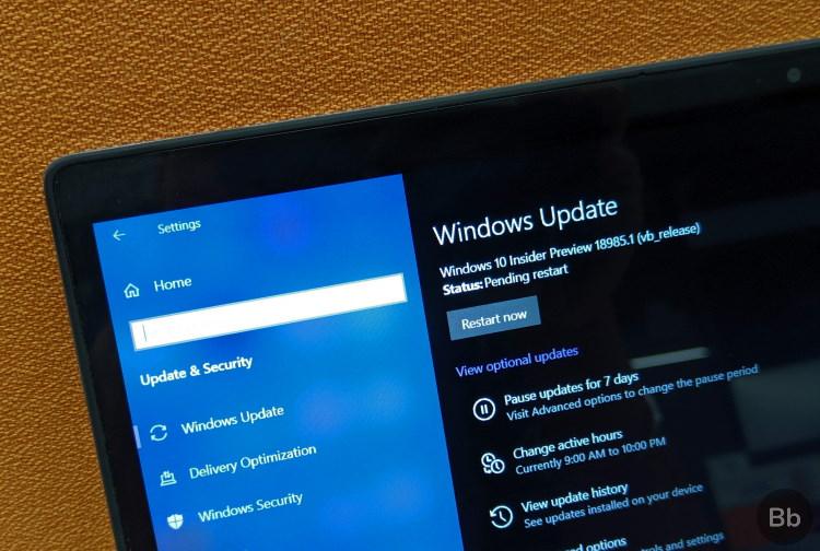 2019 november windows update 10