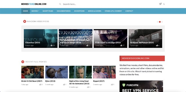 movies found online free streaming site