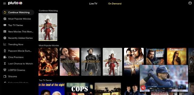 pluto tv free movie streaming