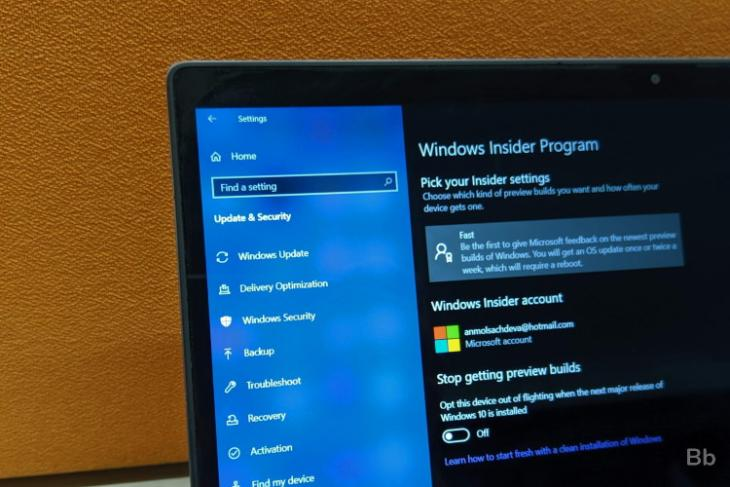windows 10 insider preview update - microsoft